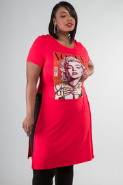 Plus Size Marylin Monroe Vogue Cover Graphic Top
