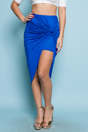 Twist Drape High Low Skirt