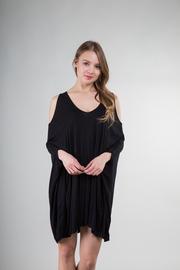 Solid Draped Dress