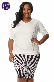 Plus Size Great Love Printed Top