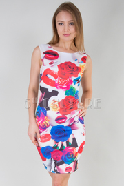 Multi Lip Print Bodycon Dress