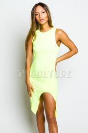 Zipper Back Solid Sleeveless Bodycon Dress