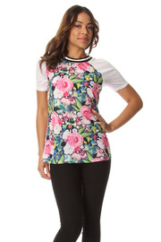 Rosie Paradise Graphic Short Sleeve Top
