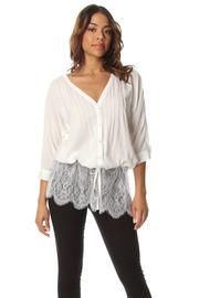 Lacey Back V-Neck Blouse