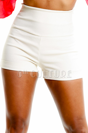 Solid High Waist Shorts