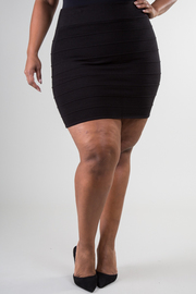 Plus Size Knit Mini Skirt