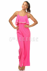 Ruffle Solid Jumpsuit
