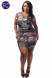Plus Size Forever Young Graphic Print Mini Dress
