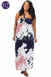 Plus Size Halter To Summer Maxi Dress
