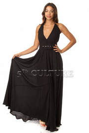 Halter Top Solid Maxi Dress