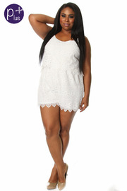 Plus Size Crochet Romper
