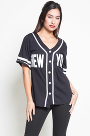 New York Button Down Sporty Top