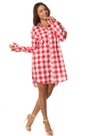 Long Sleeve Plaid Oversize Flannel