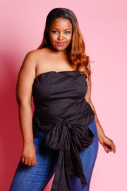 Plus Size Bowed Tube Top
