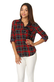Plaid Button Down Long Sleeve Flannel