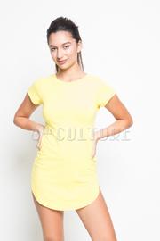 Short Sleeve Solid Tunic Dress