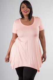 Plus Size Short Sleeve Tunic Dress