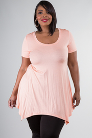 Plus Size Short Sleeve Tunic Dress