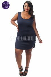 Plus Size Solid Tank Bodycon Dress