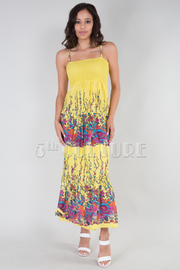 Blooming Print Maxi Dress ONE SIZE