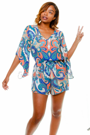 Baroque Angle Sleeve Romper