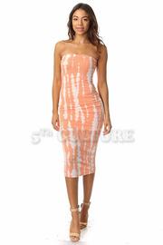 Tube Top Tie dye Midi Dress