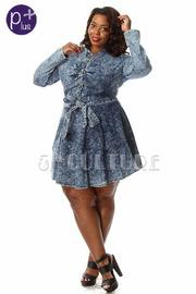 Denim skater dress plus size – Dress online uk