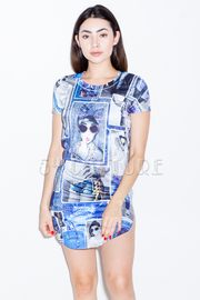 Collage Mini Dress