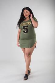 Coco 5 Foil Print Mini Dress