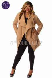 Plus Size Thick Solid Fall Coat