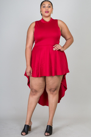 Plus Size High Low Sleeveless Dress