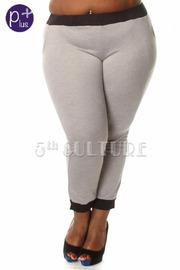 Plus Size Contrast Jogger Pants