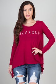 Solid Long Sleeve Blessed Top