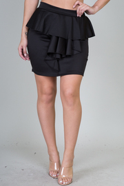 Ruffle Front Mini Skirt