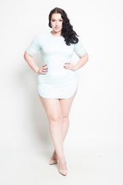 Plus Size Cap Sleeve Mini T-Shirt Dress