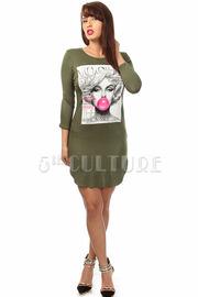 Vogue Graphic Print Mini Dress