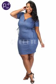 Plus Size Side Tie Up Mini Dress