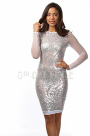 Designed Sequence Long Sleeve Mini Dress