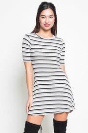 Striped Skater Mini Dress