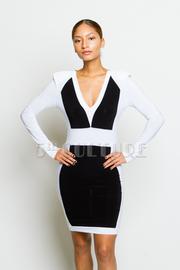Color Block Back Zipper Detail Bodycon Dress