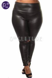 Plus Size Liquid Faux Leather Leggings