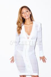 Long Sleeve Zipper Up Lace Mini Dress
