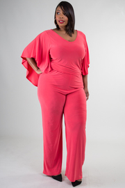Plus Size Sleeveless Solid Open Back Jumper