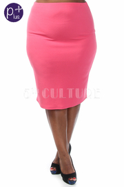Plus Size Solid Mini Skirt