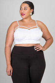 Plus Size Sleeveless Solid Crop Top