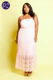 Plus Size Lace Detail Sleeveless Maxi Dress