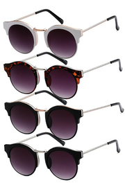 Retro Round Metal Arm Sunglasses