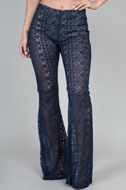 All Over Lace Bell Bottoms Pants