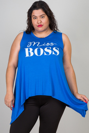 Plus Size Miss Boss Sleeveless Top