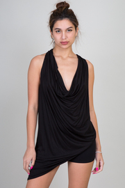 Solid Draped Sleeveless Top